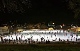 ijsbaantje, winter, winterwonderland, schaatsen