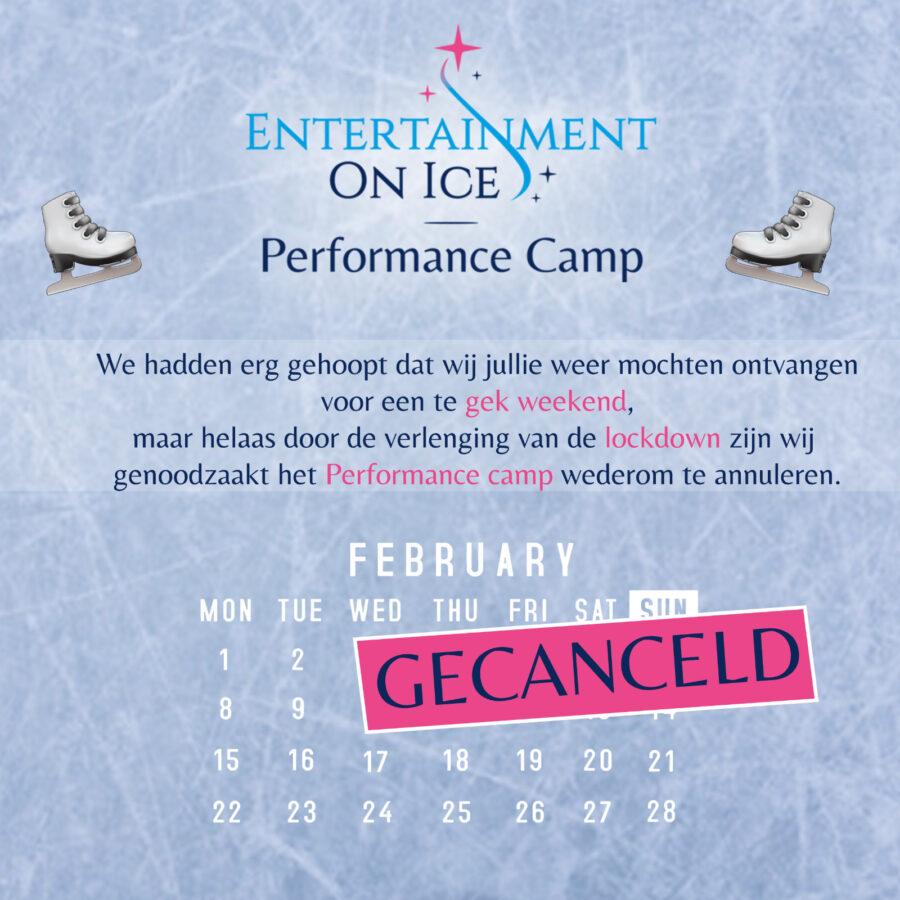 NIEUWS: Performance Camp februari 2021 GEANNULEERD
